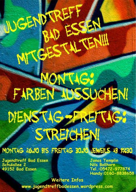 Plakat Jugendtreff Mitgestalten