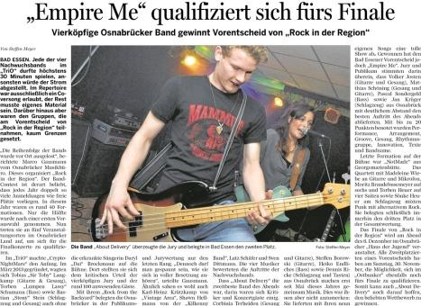 08.11.2013 - Rock in der Region -  Empire Me qualifiziert sich fürs Finale