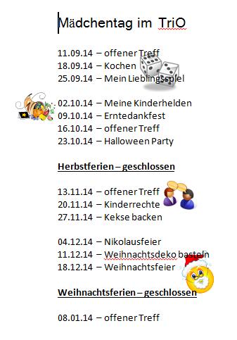 Mädchentag TriO 2014