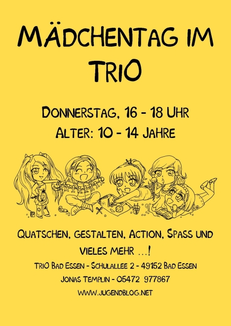Mädchentag front Publisher gelb
