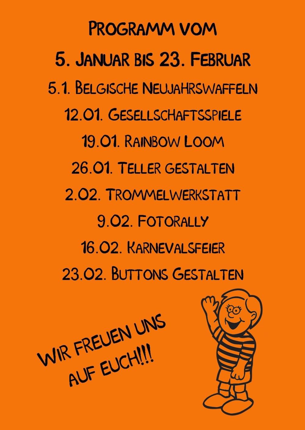 Kindertreff Wimmer-Schule rück Publisher 01.2015 Orange