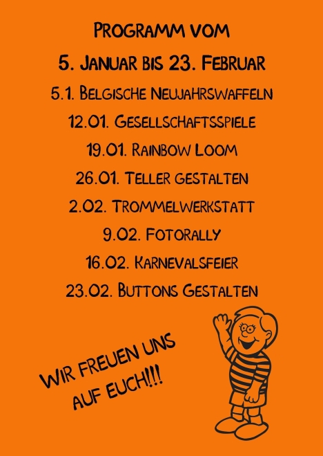 Kindertreff Wimmer-Schule rück Publisher 01.2015 Orange