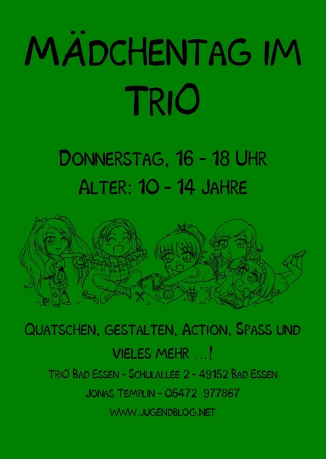 Mädchentag front Publisher grün