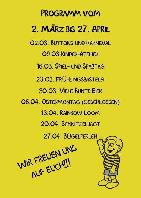 Kindertreff Wimmer-Schule rück Publisher 03.2015 Gelb