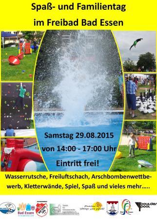 Flyer Freibadfest 2015