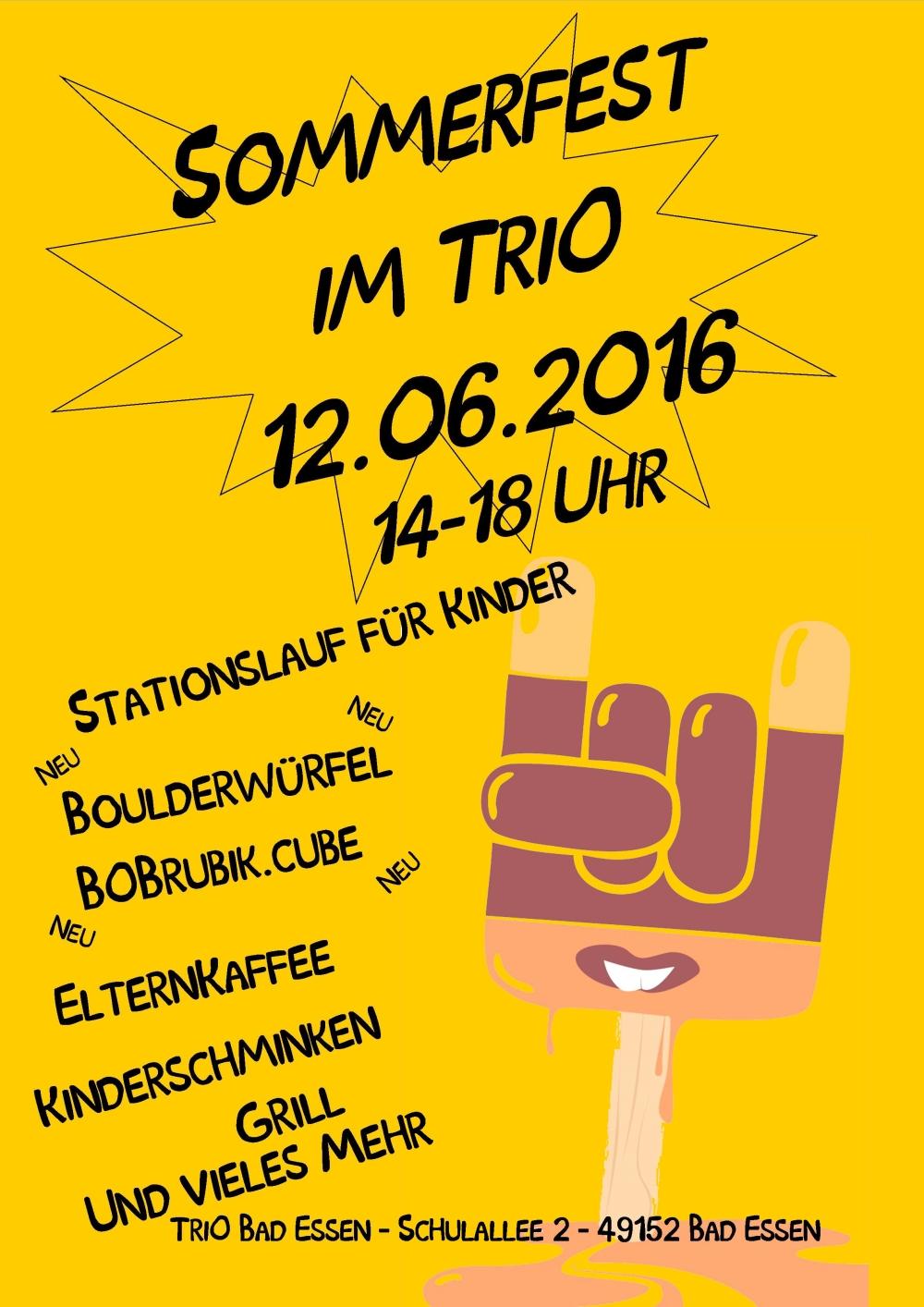 Sommerfest 2016 Flyer gelb
