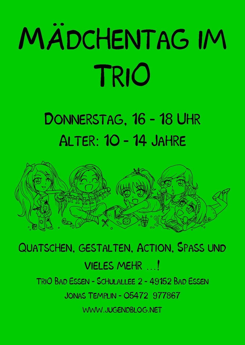 Mädchentag TriO Front Publisher 08.2016 grün