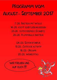 Kindertreff Wimmer rück august hompage