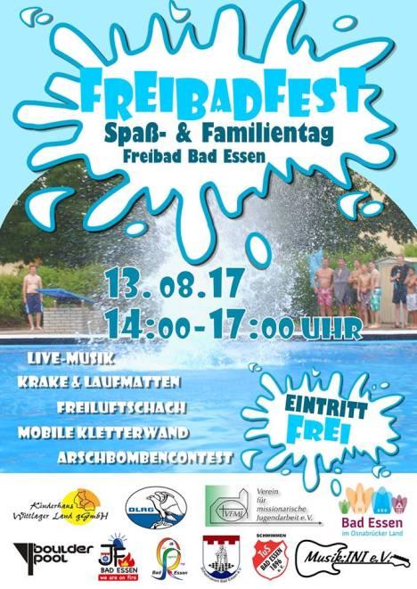 Flyer Freibadfest 2017 als Bild für Seite