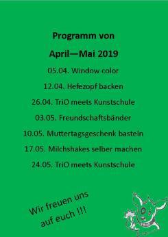 Kindertag April-Mai 2019 grüner Hintergrund
