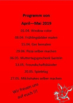 Kindertag April-Mai Wimmer roter Hintergrund