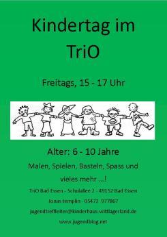 Kindertag TriO Front grüner Hintergrund
