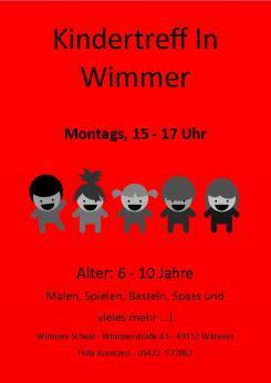 Kindertreff Wimmer-Schule roter Hintergrund